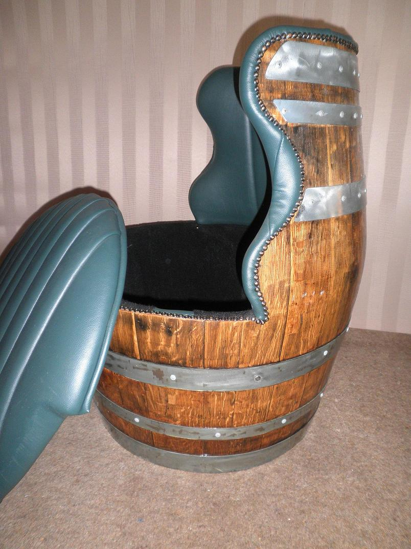 """WINE BARREL CHAIRS : Custom Made Wine Barrel Chairs 